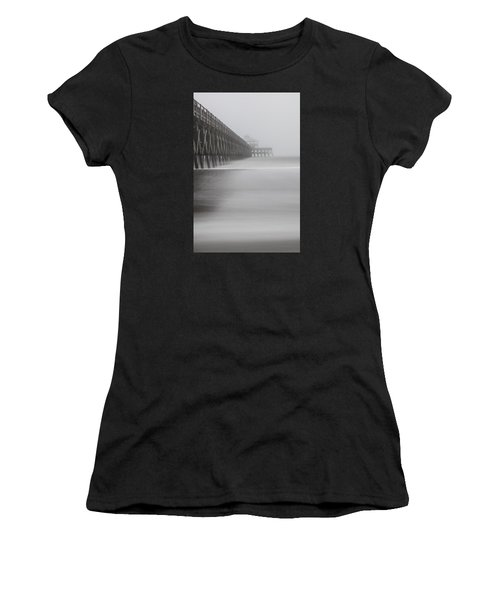 Foggy Folly Beach Pier Women's T-Shirt