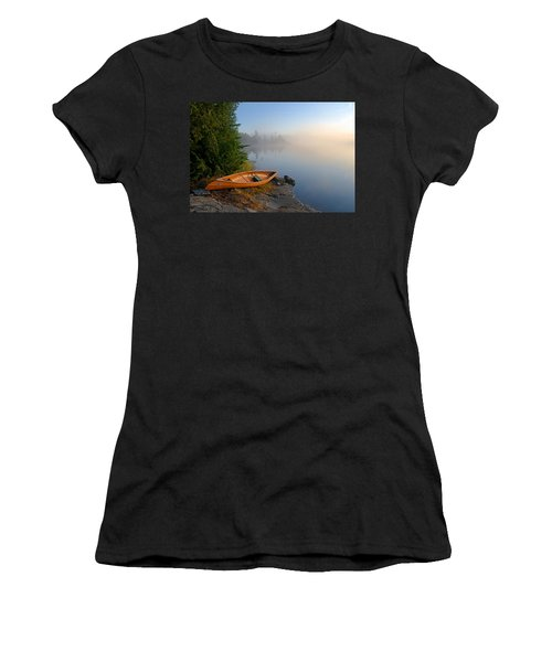 Foggy Morning On Spice Lake Women's T-Shirt