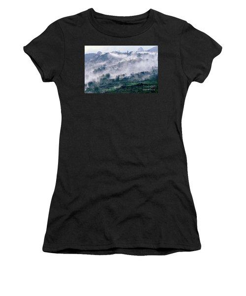 Foggy Mountain Of Sa Pa In Vietnam Women's T-Shirt