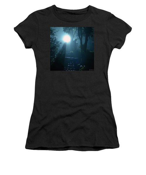 Foggy Night At The Old Railway Village Women's T-Shirt (Athletic Fit)