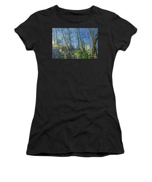 Follow Me Oil Painting Of A Magic Forest Women's T-Shirt (Athletic Fit)