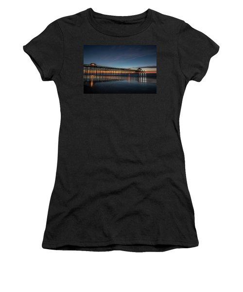 Folly Beach Pier Before Sunrise Women's T-Shirt