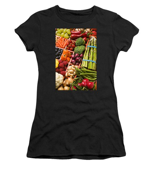 Food Compartments  Women's T-Shirt (Junior Cut) by Garry Gay