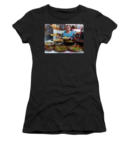 Food Court In Paracho Women's T-Shirt