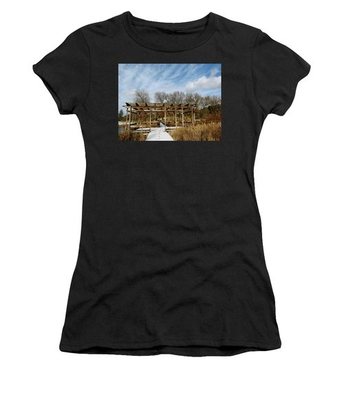 Footprints In The Snow Women's T-Shirt (Athletic Fit)