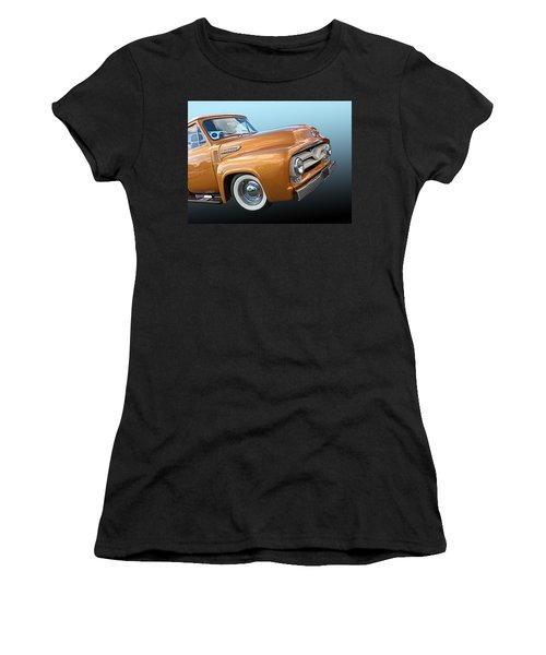 Ford F100 1955 In Bronze Women's T-Shirt
