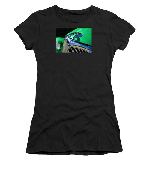 Ford Greyhound Hood Ornament Women's T-Shirt (Athletic Fit)