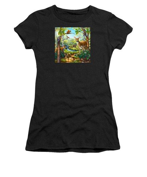 Forest Animals Women's T-Shirt