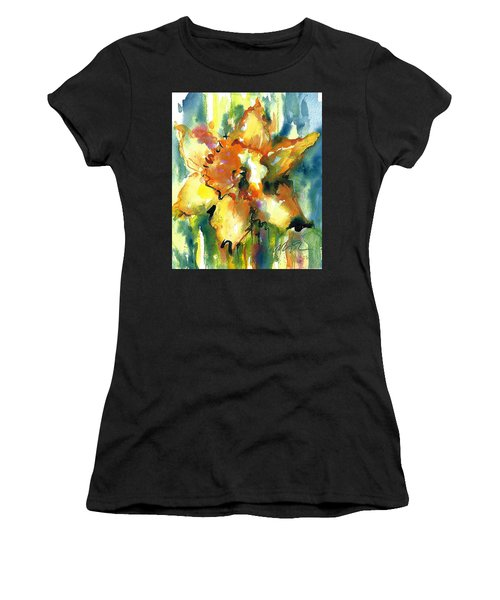 Forest Daffodil The Prayer Women's T-Shirt (Athletic Fit)