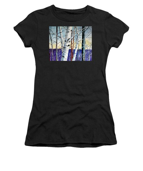 Forest Of Trees Women's T-Shirt (Athletic Fit)