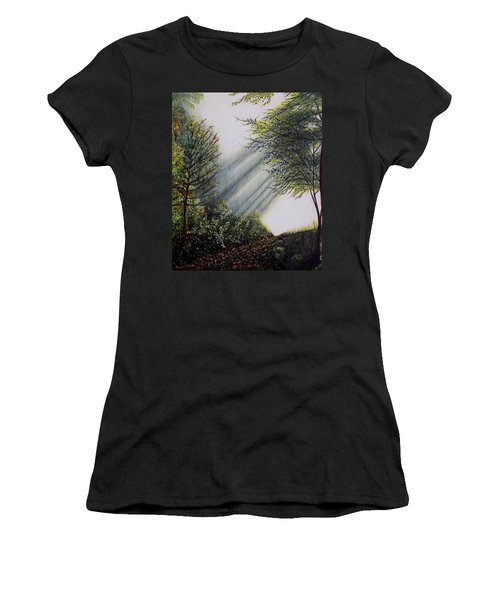 Forest Pathway Women's T-Shirt (Athletic Fit)