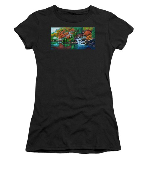 Forest Stream II Women's T-Shirt (Athletic Fit)