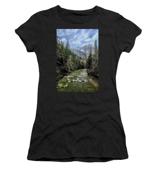 Forgotten Mountain Women's T-Shirt (Athletic Fit)