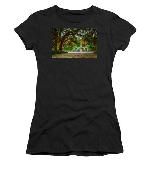 Forsyth Park Fountain Women's T-Shirt (Athletic Fit)
