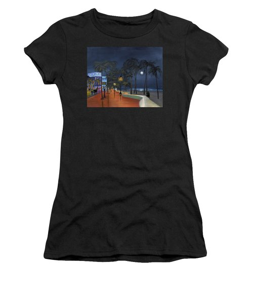 Fort Lauderdale Beach At Night Women's T-Shirt (Athletic Fit)