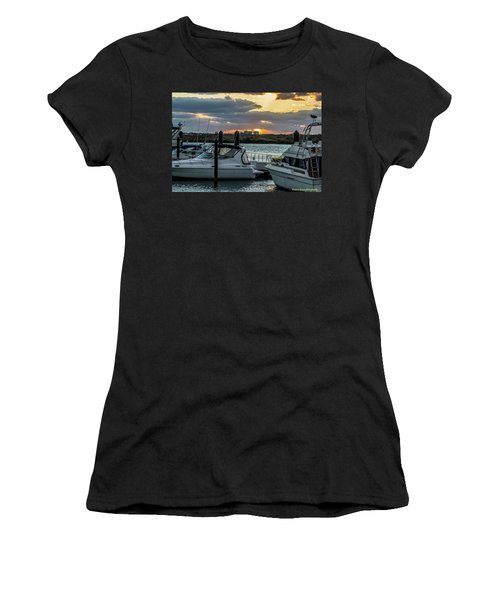 Fort Pierce Marina Women's T-Shirt (Junior Cut) by Nance Larson