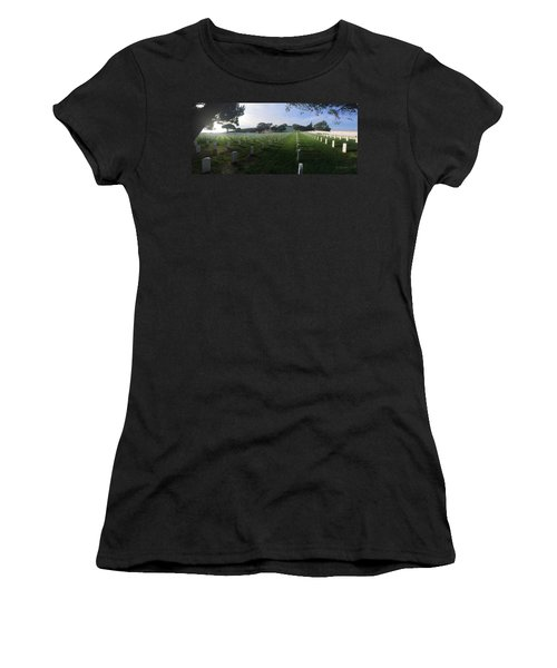 Fort Rosecrans National Cemetery Women's T-Shirt (Junior Cut) by Lynn Geoffroy