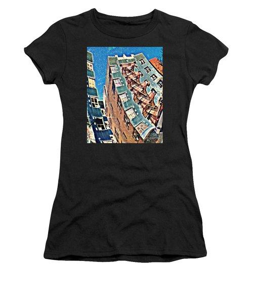 Fort Washington Avenue Building Women's T-Shirt (Athletic Fit)