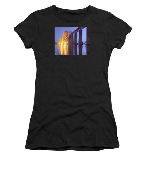 Forth Bridge Twilight Women's T-Shirt (Athletic Fit)