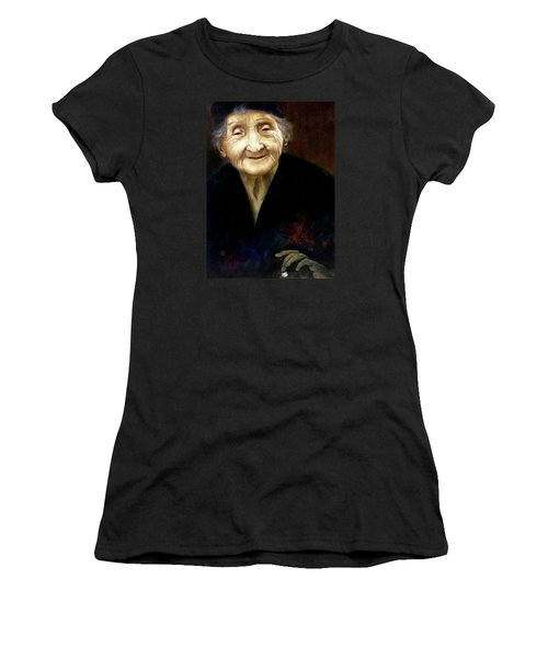Fortune Teller Women's T-Shirt (Junior Cut) by Yvonne Wright