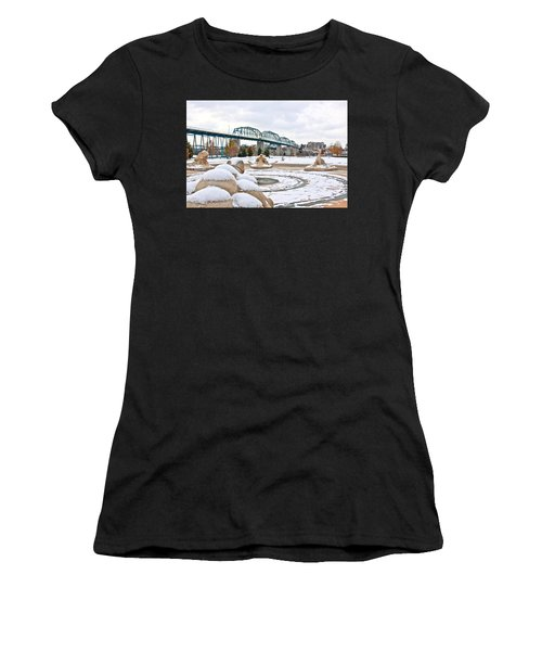 Fountain In Winter Women's T-Shirt (Athletic Fit)