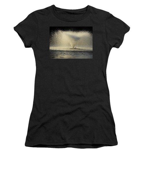Fountain Tornado Illuminating The Shadow Women's T-Shirt