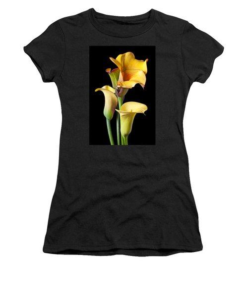 Four Calla Lilies Women's T-Shirt (Athletic Fit)