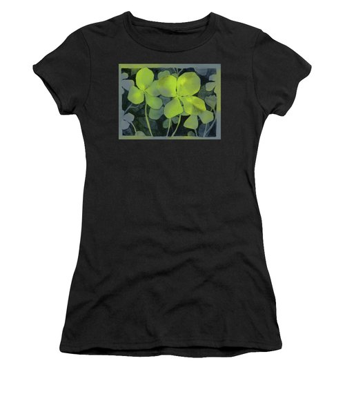 Four Leaf Clover Watercolor Women's T-Shirt