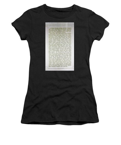 Four Score And Seven Years...... Women's T-Shirt (Athletic Fit)