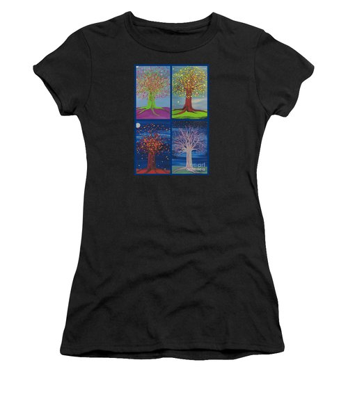 Four Seasons Trees By Jrr Women's T-Shirt (Athletic Fit)