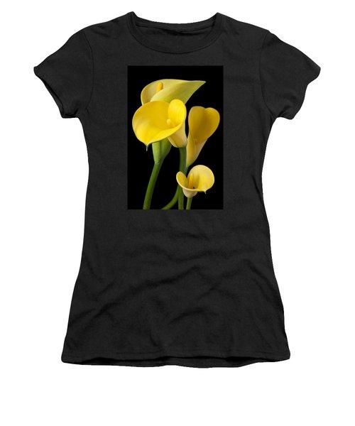 Four Yellow Calla Lilies Women's T-Shirt