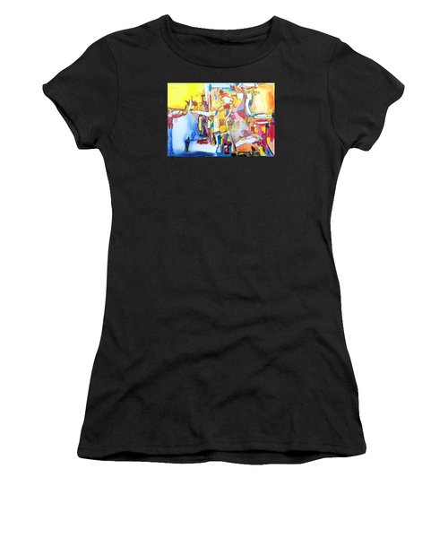 Fourth World Ladders Women's T-Shirt (Athletic Fit)