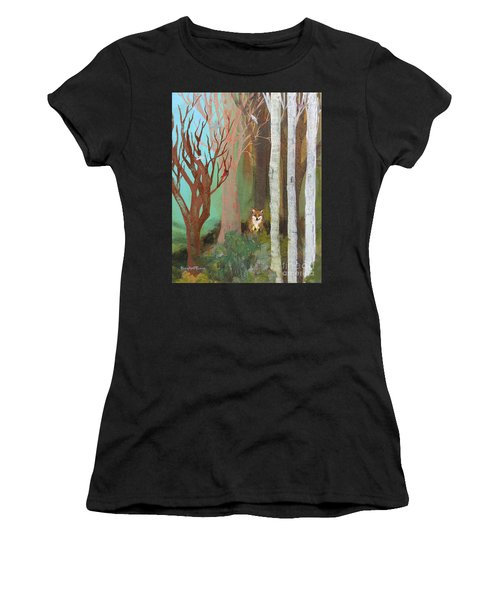 Fox In The Forest  Women's T-Shirt