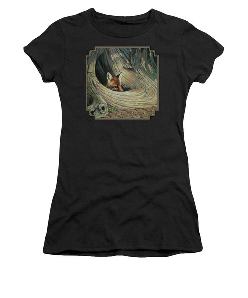 Fox - It's A Big World Out There Women's T-Shirt (Athletic Fit)