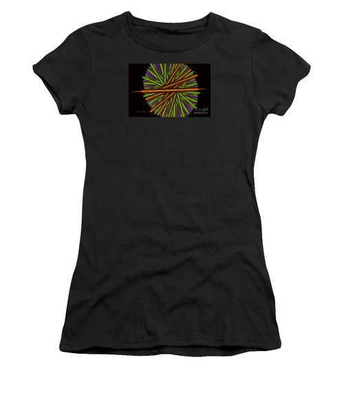 Fractal Feathers Women's T-Shirt (Athletic Fit)