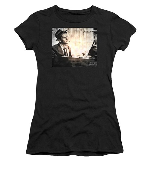Frank Sinatra - Vintage Painting Women's T-Shirt (Athletic Fit)