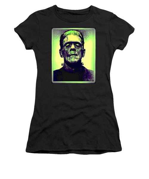 Frankenstein In Color Women's T-Shirt (Athletic Fit)