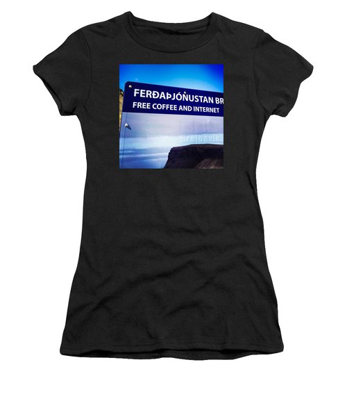 Free Coffee And Internet - Sign In Iceland Women's T-Shirt