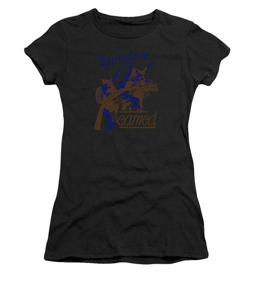 Freedom Is Earned - Ww2 Women's T-Shirt (Athletic Fit)