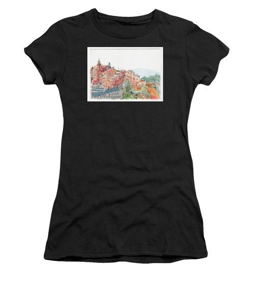 French Hill Top Village Women's T-Shirt (Athletic Fit)
