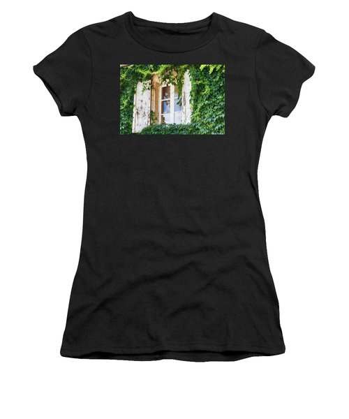 French Window In Provence Women's T-Shirt (Athletic Fit)