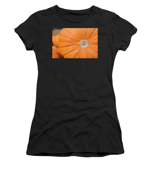 Fresh Organic Orange Giant Pumking Harvesting From Farm At Farme Women's T-Shirt (Athletic Fit)