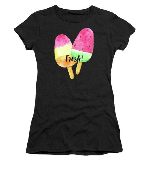 Fresh Summer Refreshing Fruit Popsicles Women's T-Shirt