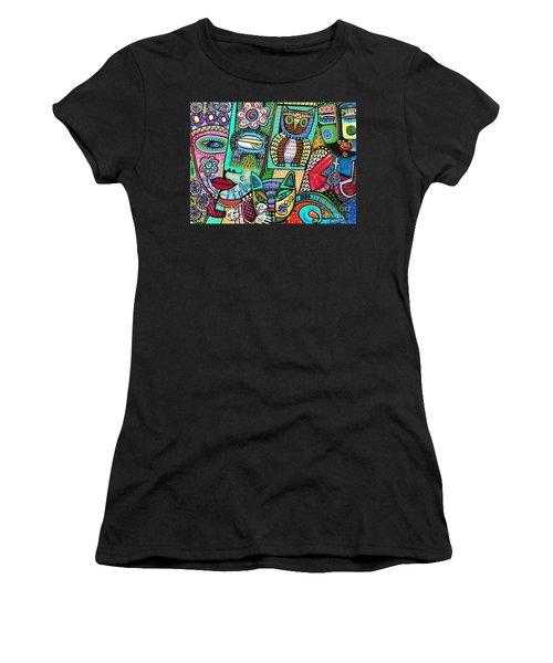 -frida's Garden Owl And Cat Women's T-Shirt