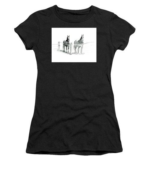 Friesian Horses Women's T-Shirt