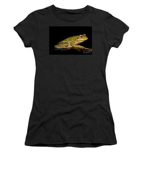 Women's T-Shirt (Junior Cut) featuring the photograph Cuban Tree Frog by Olga Hamilton
