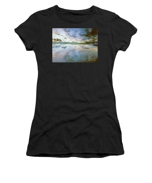 Women's T-Shirt featuring the photograph From The Causeway by Leigh Kemp