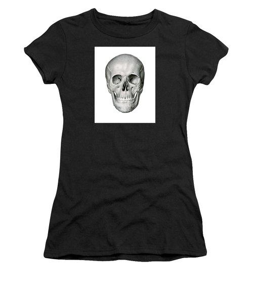 Frontal View Of Human Skull Women's T-Shirt