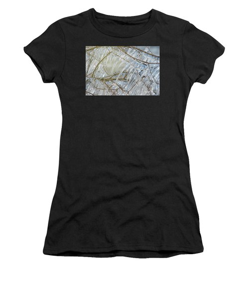 Women's T-Shirt (Junior Cut) featuring the photograph Frostbite.. by Nina Stavlund