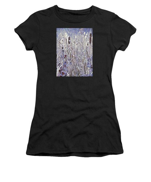 Frosted Cattails In The Morning Light Women's T-Shirt (Athletic Fit)